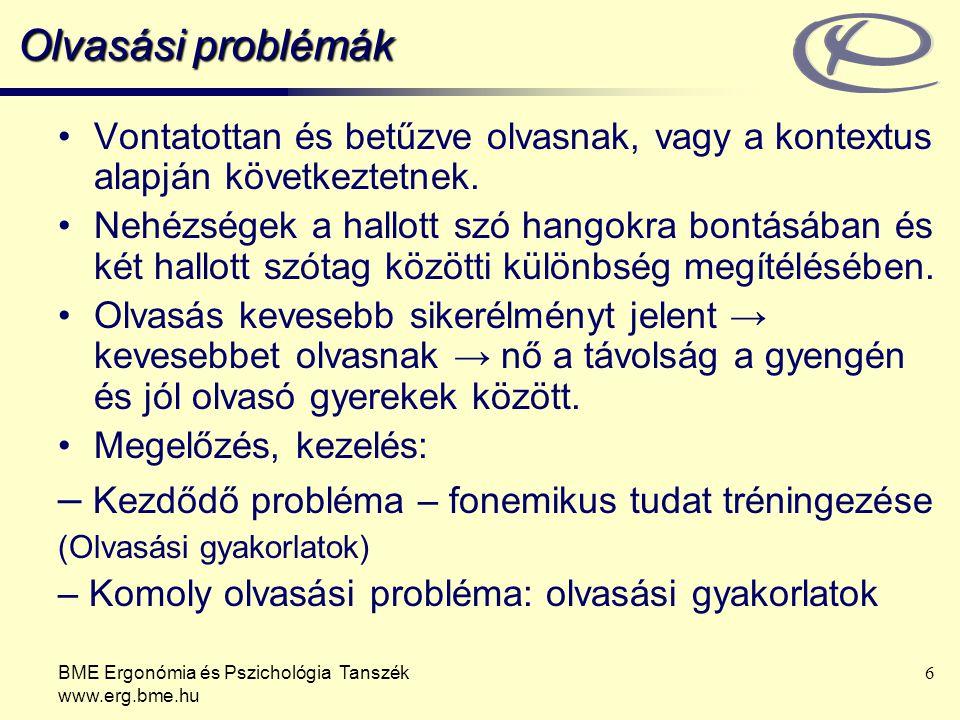 – Kezdődő probléma – fonemikus tudat tréningezése