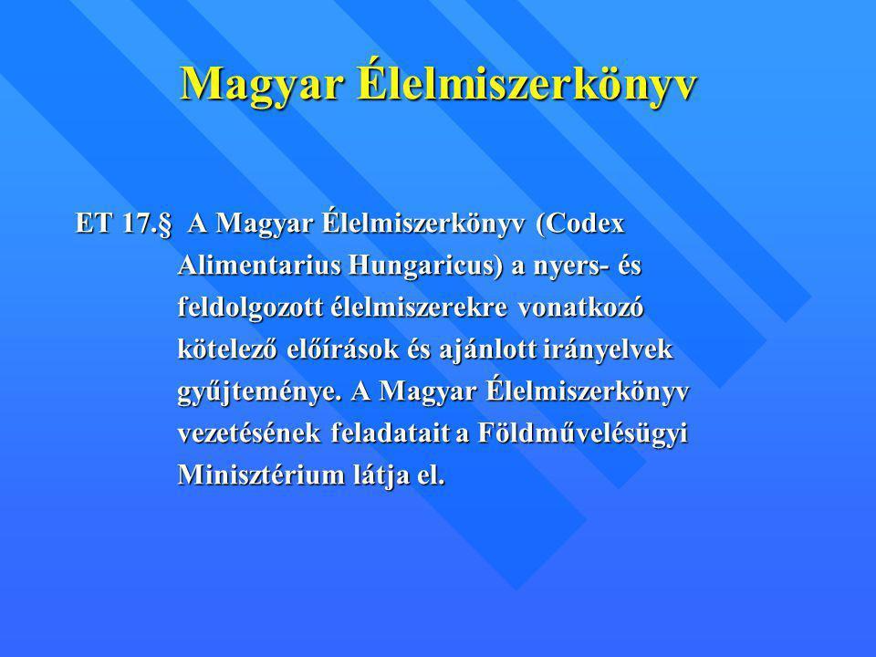 Magyar Élelmiszerkönyv