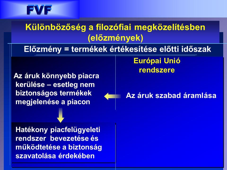 FVF FVF Különbözőség a filozófiai megközelítésben (előzmények)