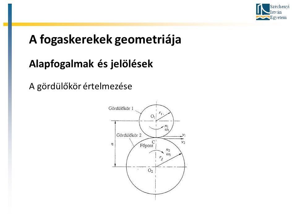 A fogaskerekek geometriája
