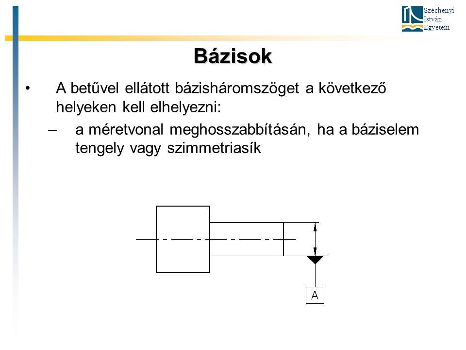 Bázisok A betűvel ellátott bázisháromszöget a következő helyeken kell elhelyezni: