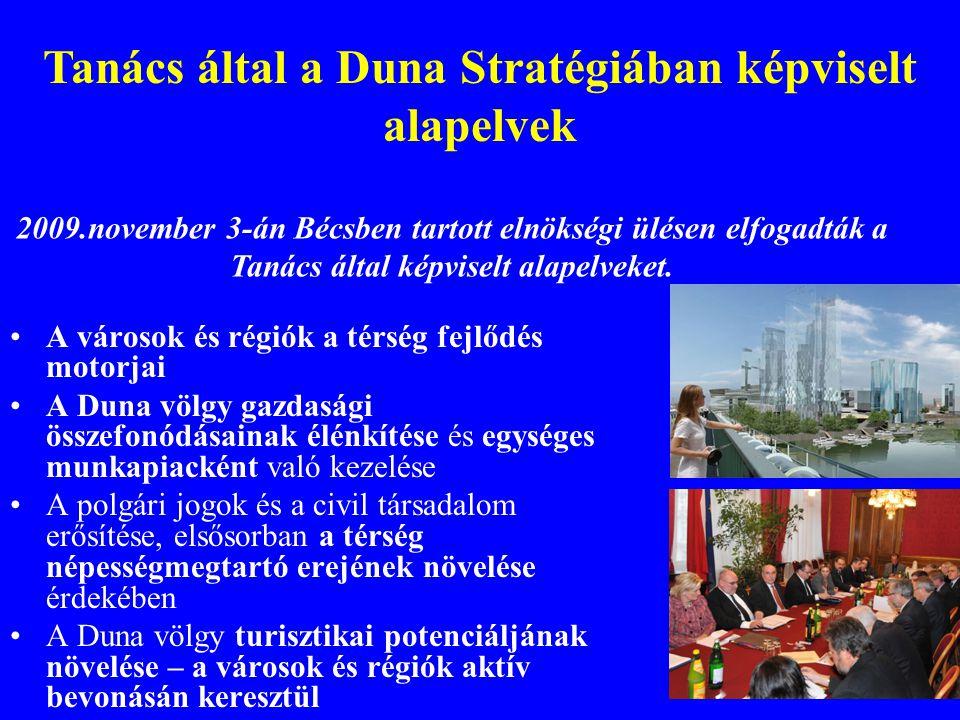 Tanács által a Duna Stratégiában képviselt alapelvek