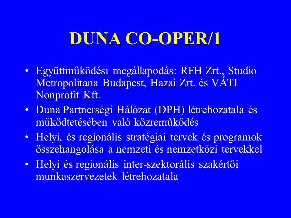 DUNA CO-OPER/1 Együttműködési megállapodás: RFH Zrt., Studio Metropolitana Budapest, Hazai Zrt. és VÁTI Nonprofit Kft.