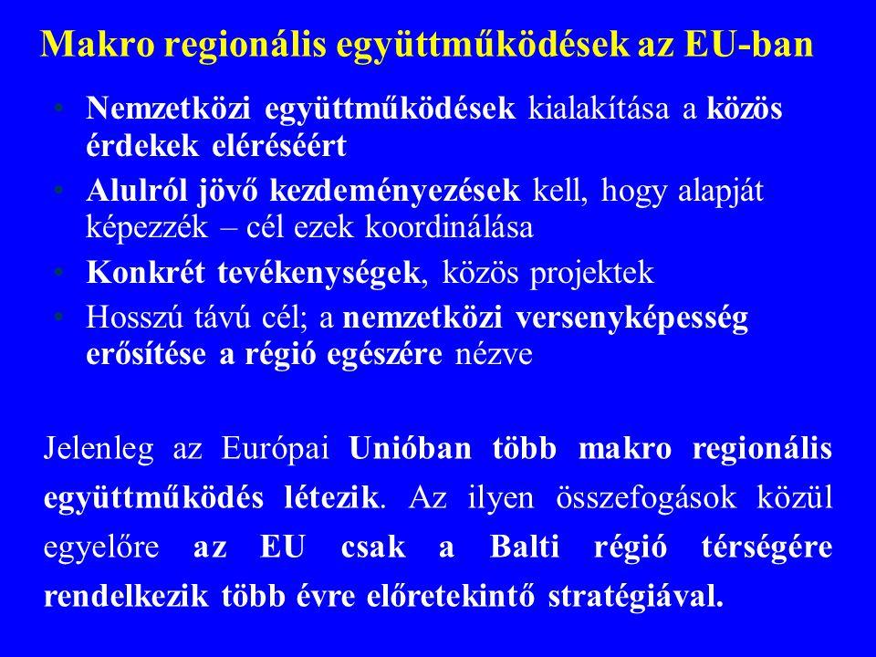 Makro regionális együttműködések az EU-ban