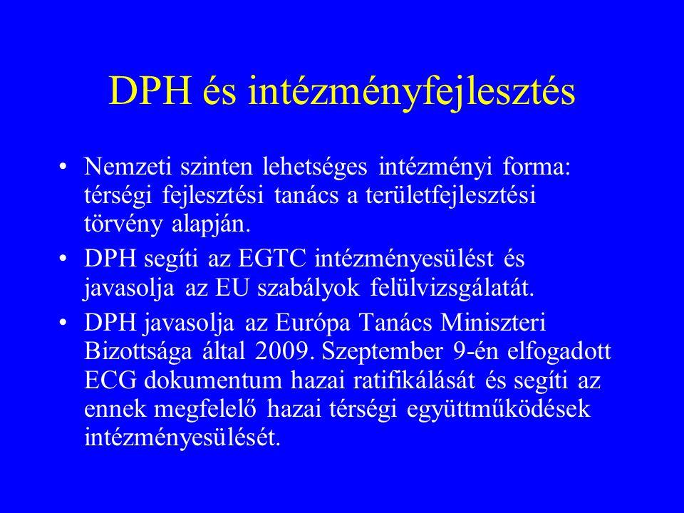 DPH és intézményfejlesztés