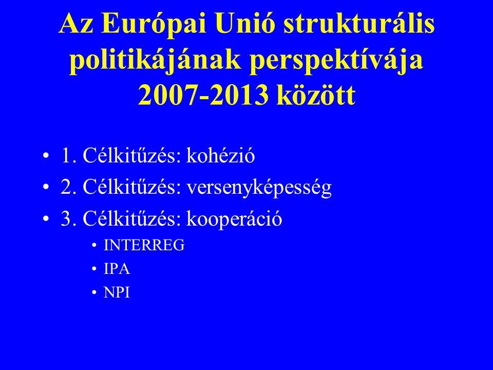Az Európai Unió strukturális politikájának perspektívája 2007-2013 között