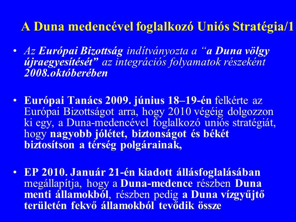 A Duna medencével foglalkozó Uniós Stratégia/1