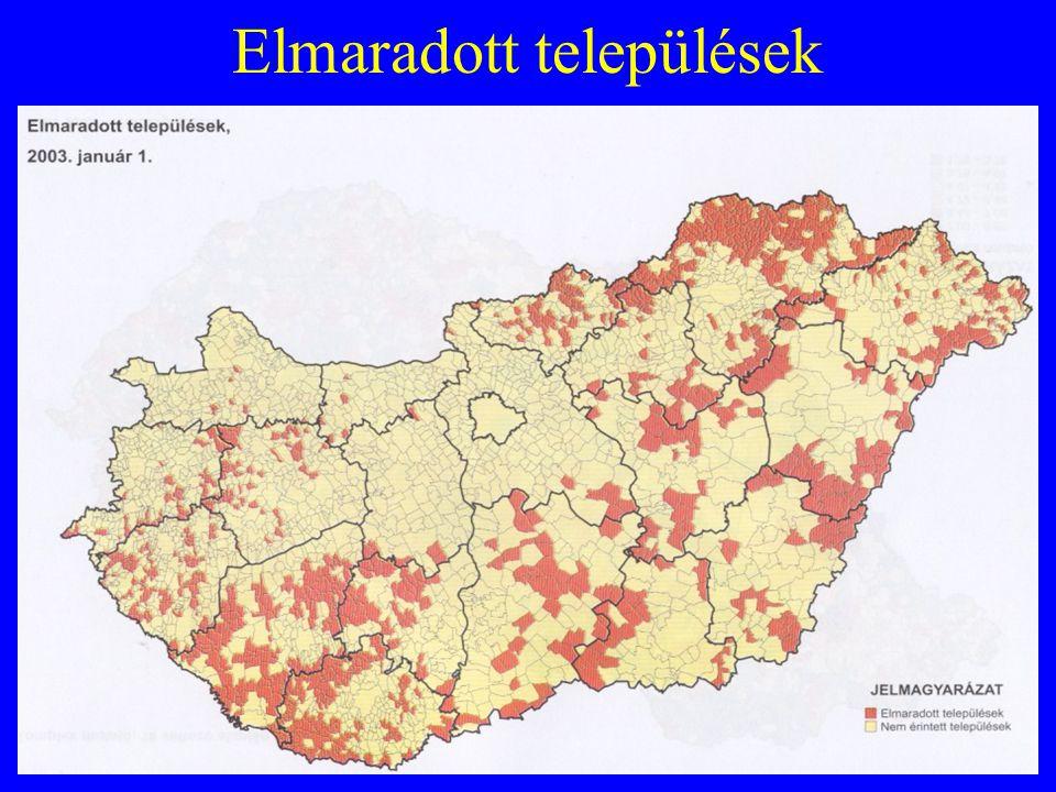 Elmaradott települések