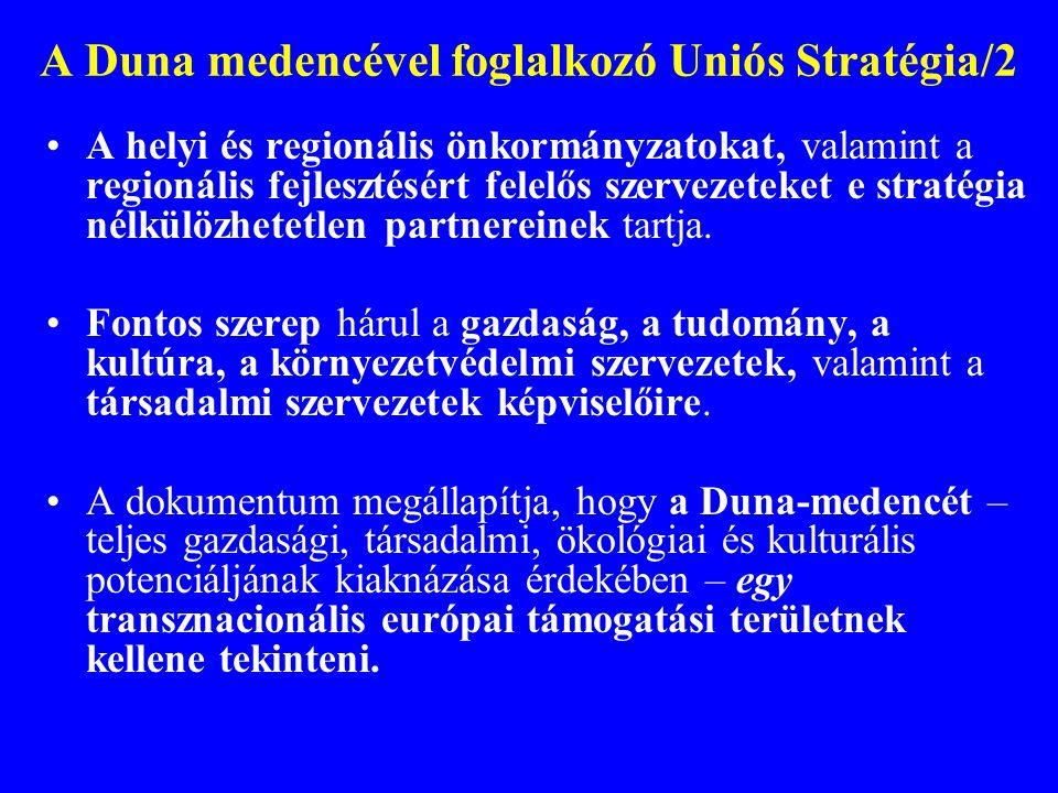 A Duna medencével foglalkozó Uniós Stratégia/2