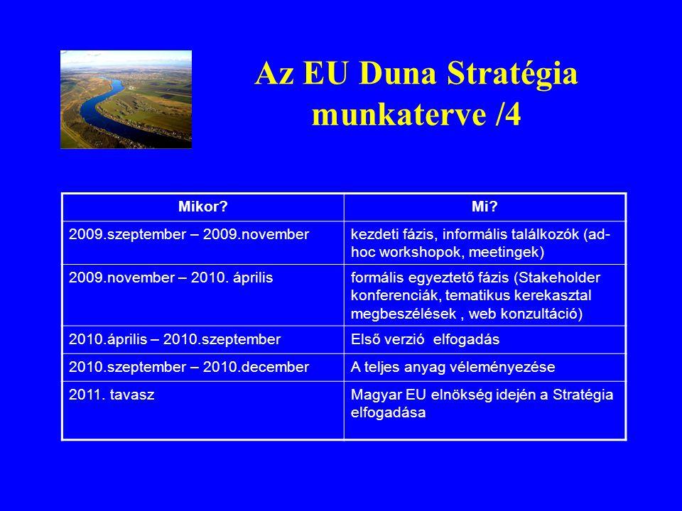 Az EU Duna Stratégia munkaterve /4