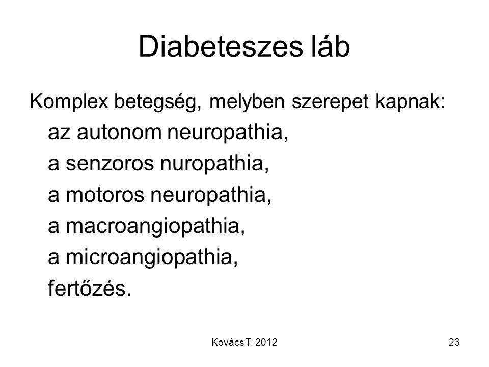 Diabeteszes láb az autonom neuropathia, a senzoros nuropathia,