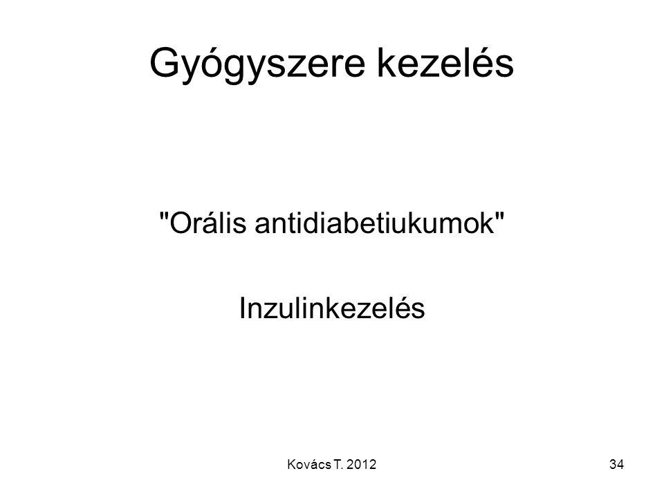 Orális antidiabetiukumok Inzulinkezelés
