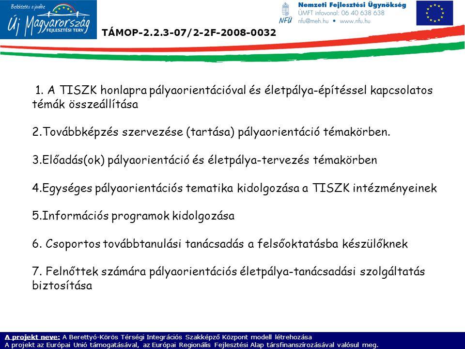 TÁMOP-2.2.3-07/2-2F-2008-0032