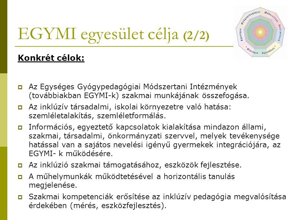 EGYMI egyesület célja (2/2)