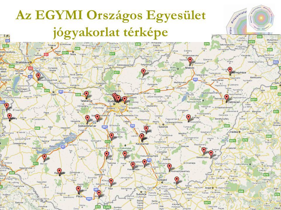 Az EGYMI Országos Egyesület jógyakorlat térképe