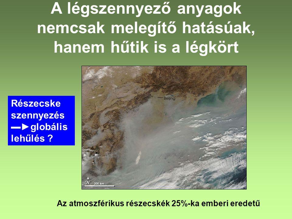 A légszennyező anyagok nemcsak melegítő hatásúak, hanem hűtik is a légkört