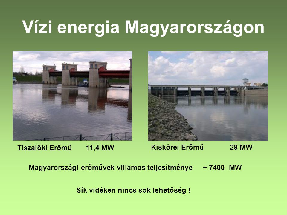 Vízi energia Magyarországon