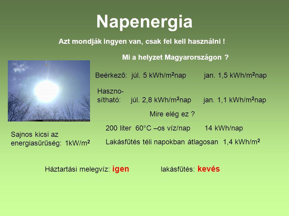 Napenergia Azt mondják ingyen van, csak fel kell használni !