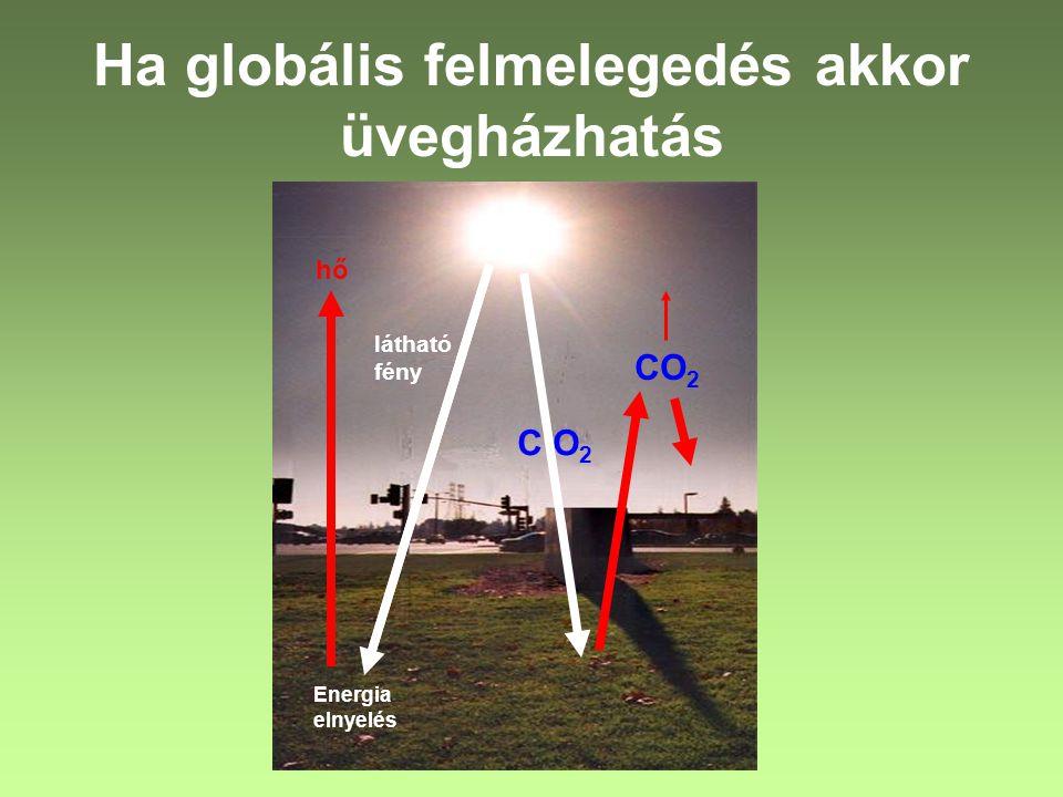 Ha globális felmelegedés akkor üvegházhatás