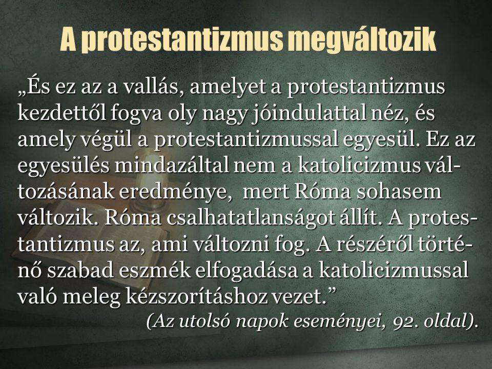 A protestantizmus megváltozik