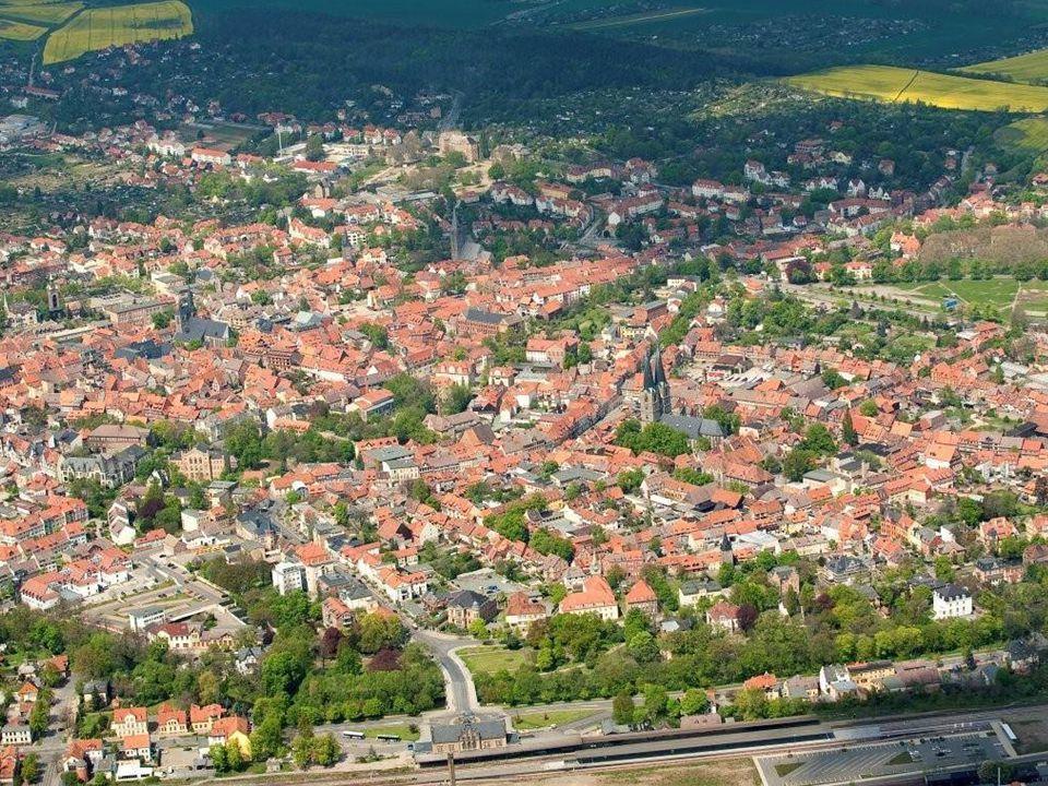 Ez partnervárosunk, Quedlinburg, látképe, ami az UNESCO Világörökség része.