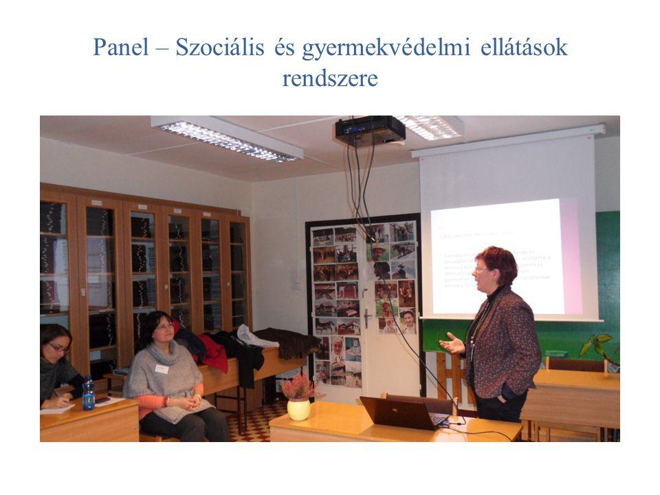 Panel – Szociális és gyermekvédelmi ellátások rendszere