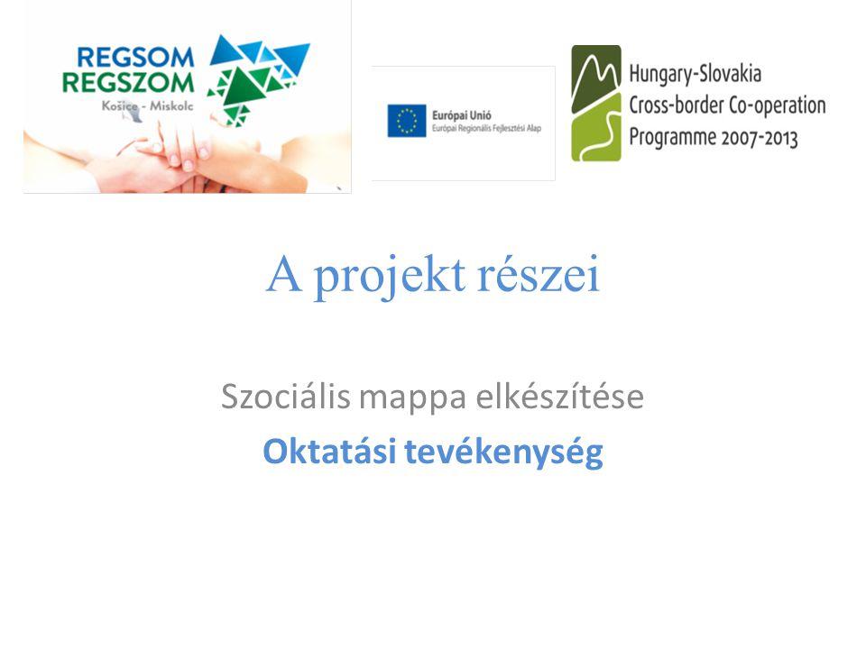 Szociális mappa elkészítése Oktatási tevékenység