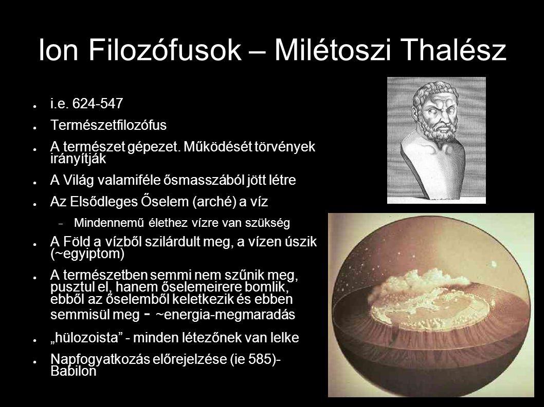 Ion Filozófusok – Milétoszi Thalész