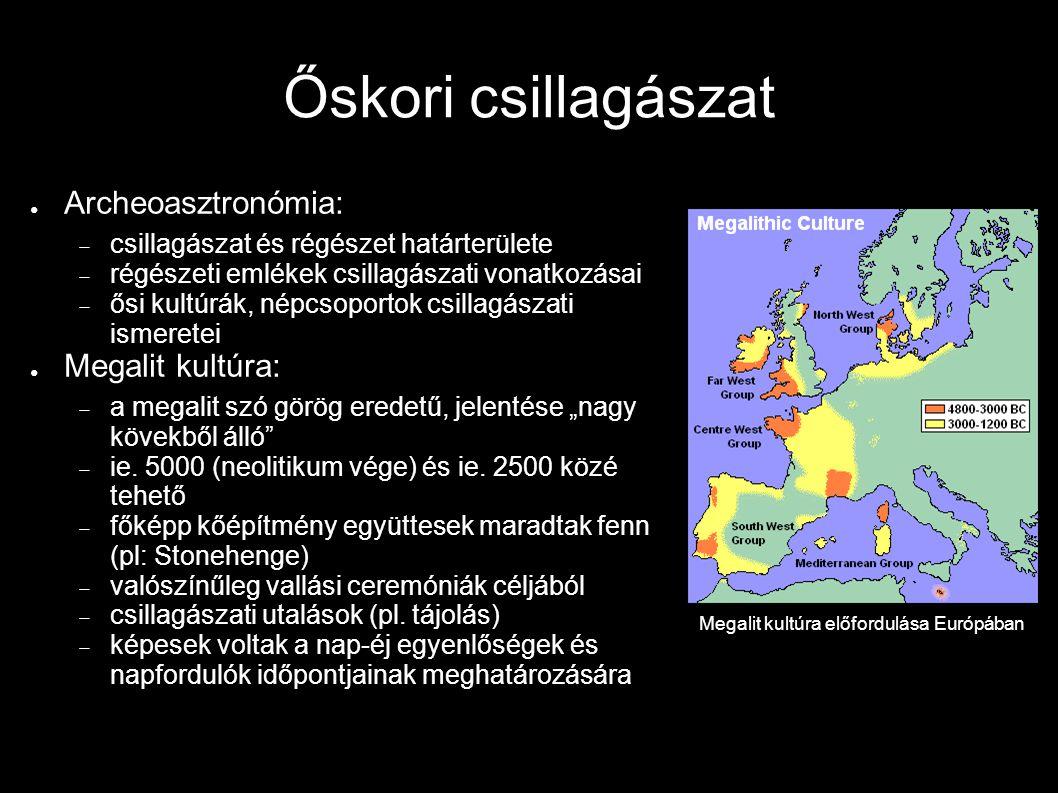 Megalit kultúra előfordulása Európában