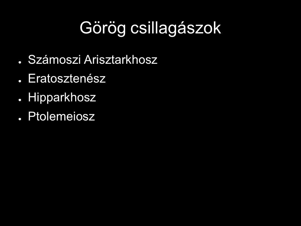 Görög csillagászok Számoszi Arisztarkhosz Eratosztenész Hipparkhosz