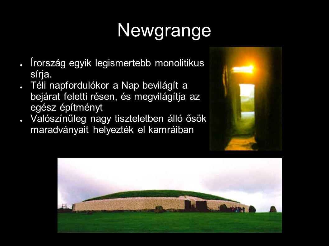 Newgrange Írország egyik legismertebb monolitikus sírja.