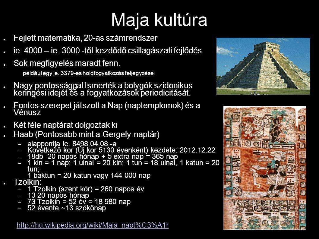 Maja kultúra Fejlett matematika, 20-as számrendszer