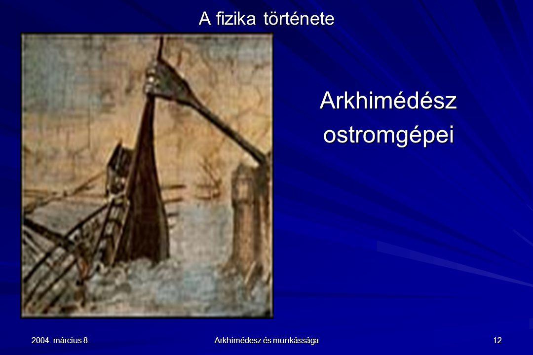 Arkhimédész ostromgépei