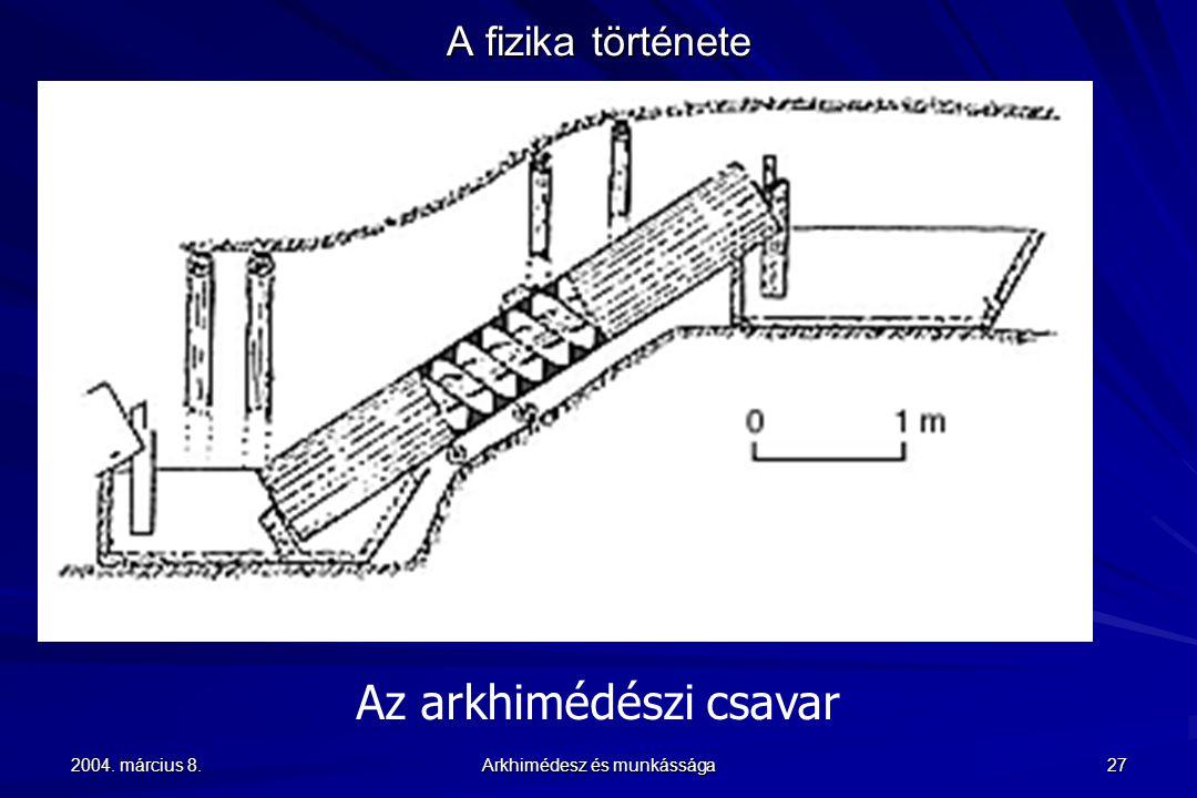 Az arkhimédészi csavar