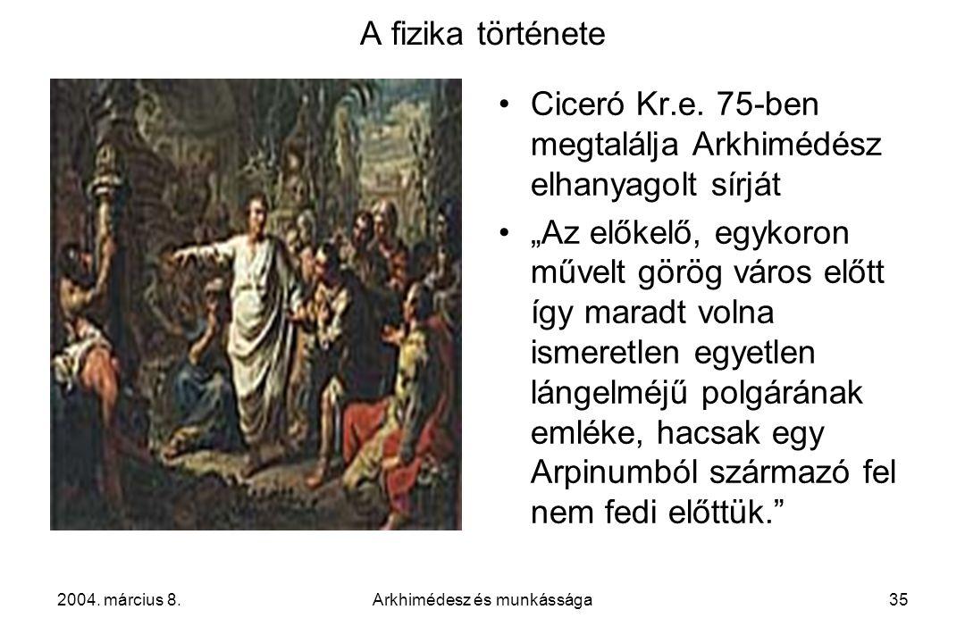 Arkhimédesz és munkássága