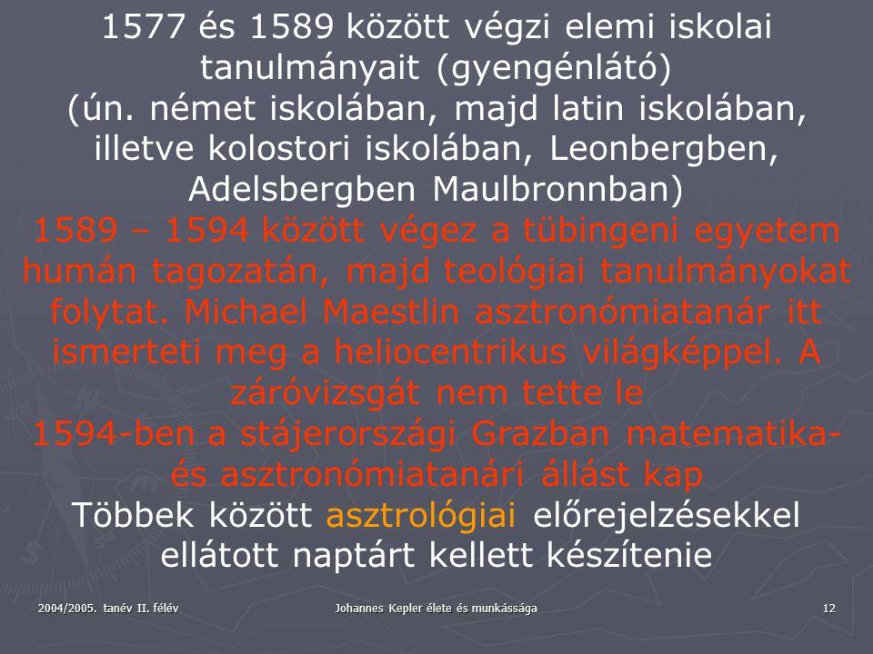 1577 és 1589 között végzi elemi iskolai tanulmányait (gyengénlátó)