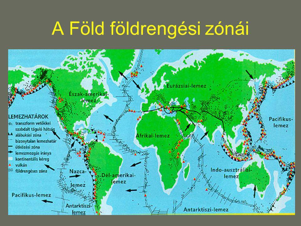 A Föld földrengési zónái