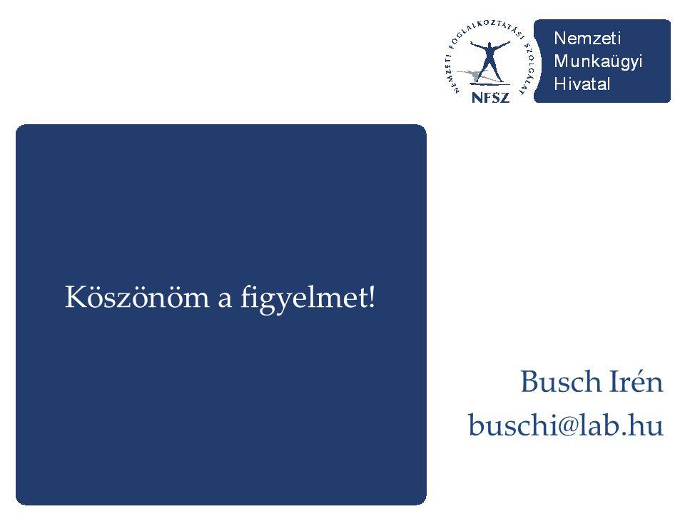 Köszönöm a figyelmet! Busch Irén buschi@lab.hu