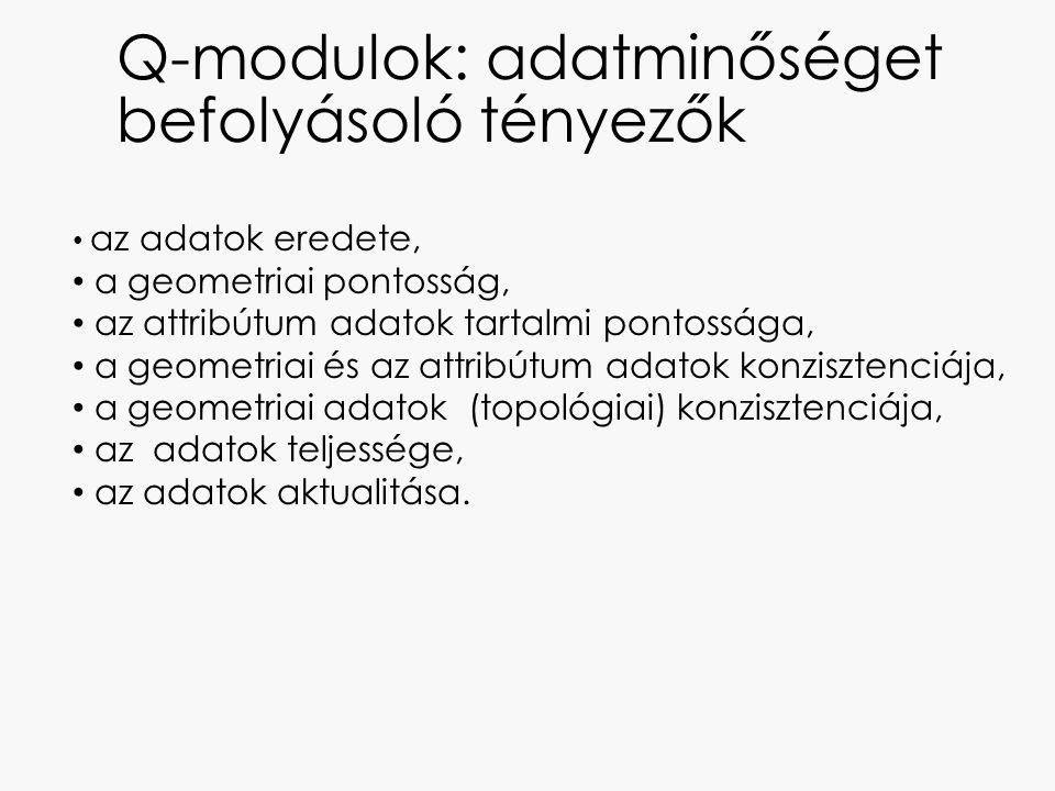 Q-modulok: adatminőséget befolyásoló tényezők