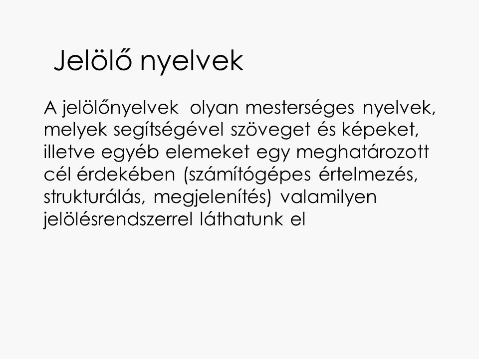 Jelölő nyelvek