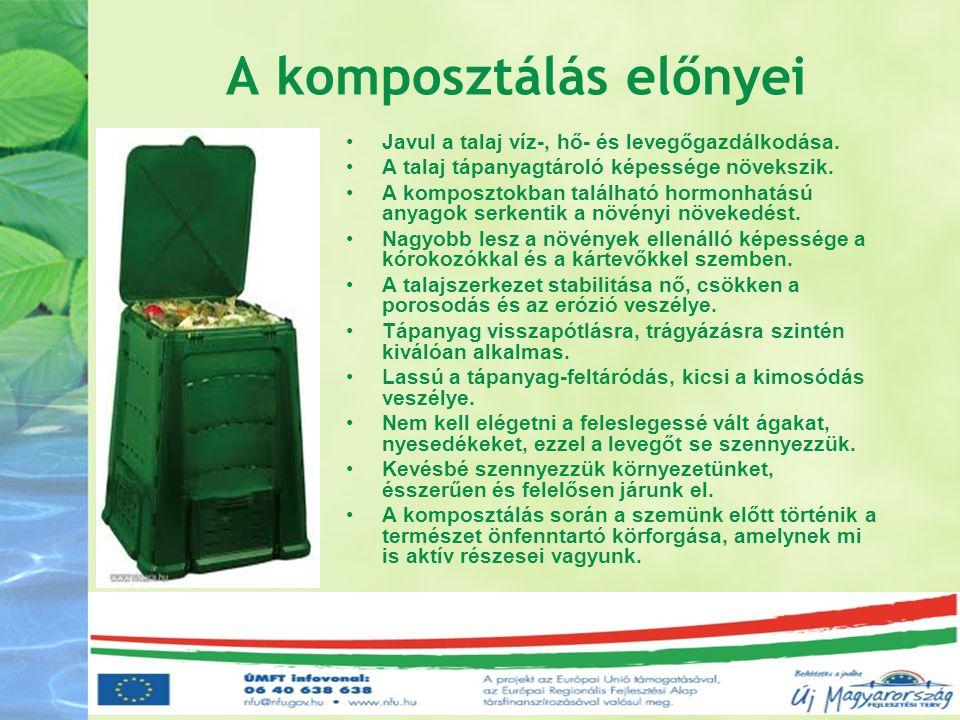 A komposztálás előnyei