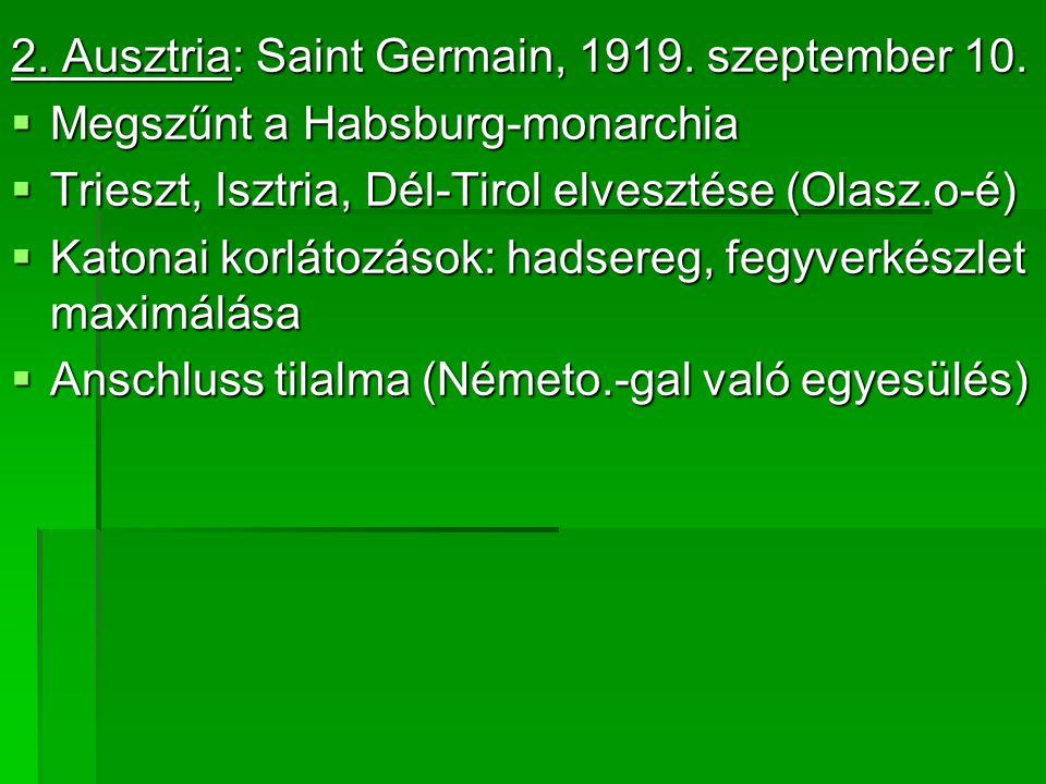 2. Ausztria: Saint Germain, 1919. szeptember 10.