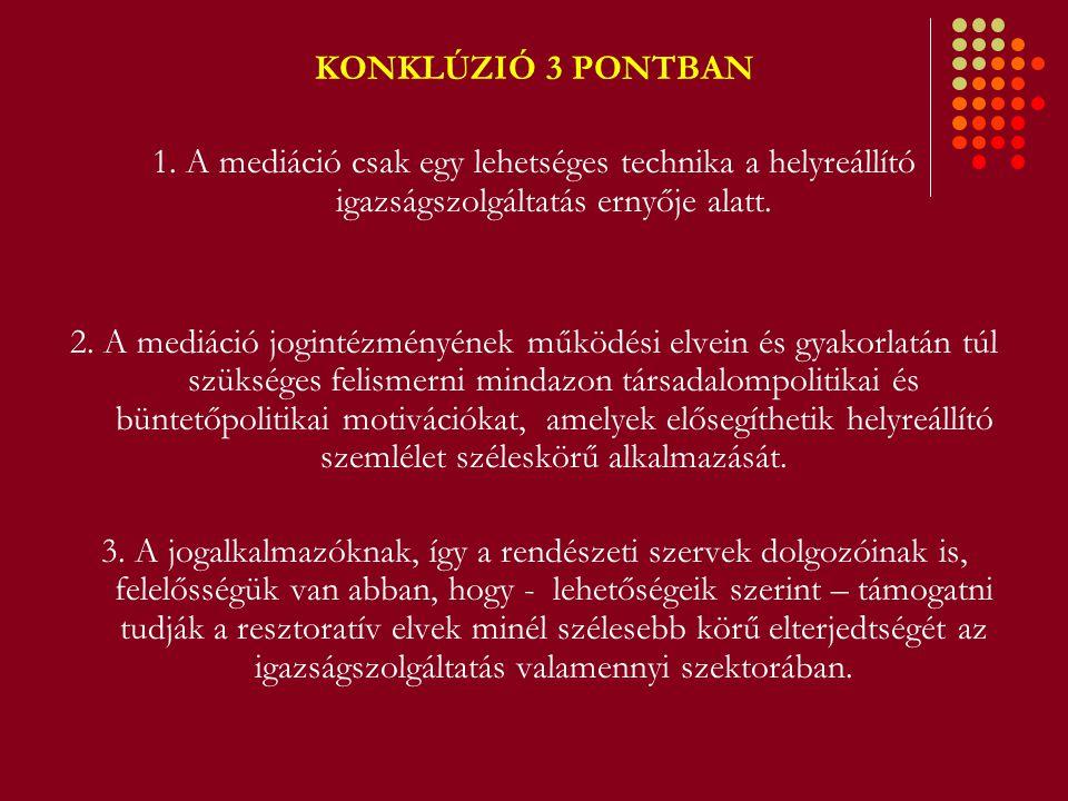 HELYREÁLLÍTÓ IGAZSÁGSZOLGÁLTATÁSI PROGRAMOK HELYE