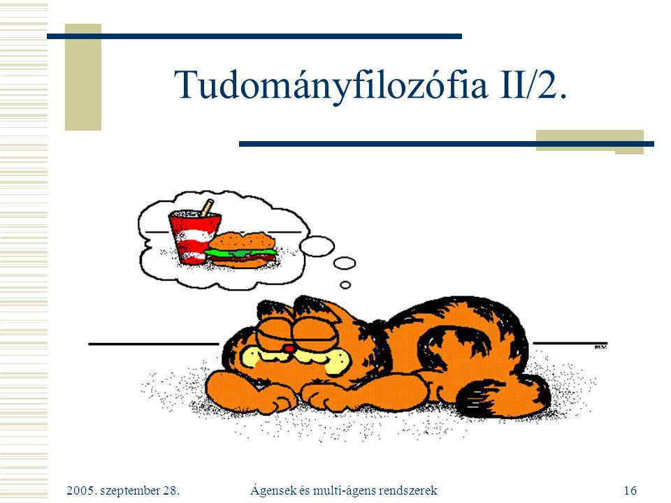 Tudományfilozófia II/2.