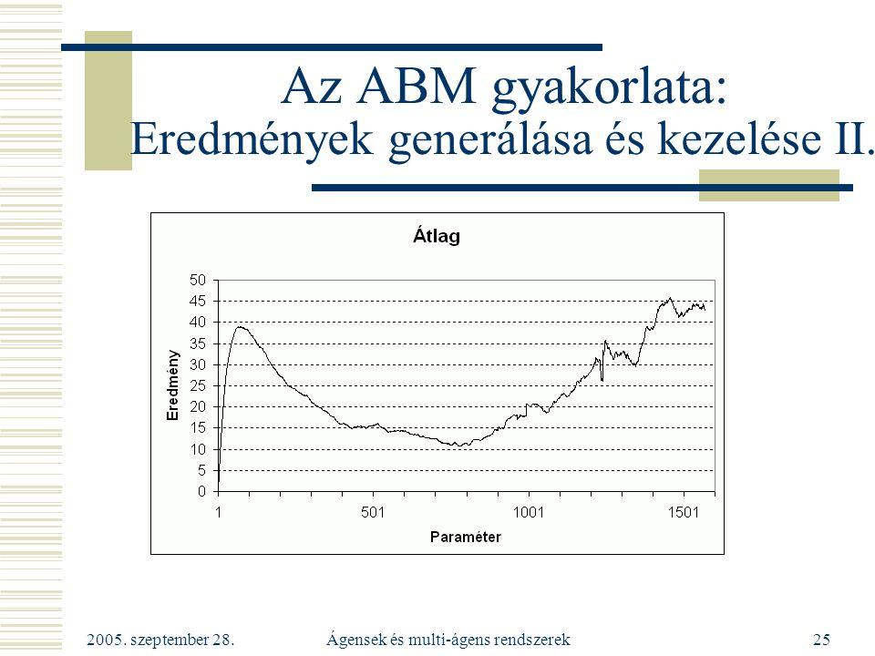 Az ABM gyakorlata: Eredmények generálása és kezelése II.