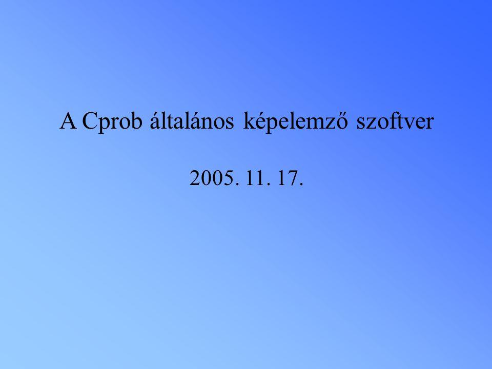 A Cprob általános képelemző szoftver