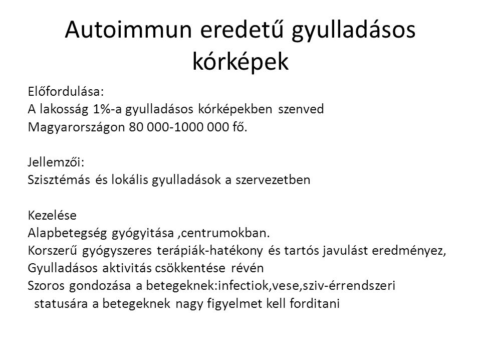 Autoimmun eredetű gyulladásos kórképek