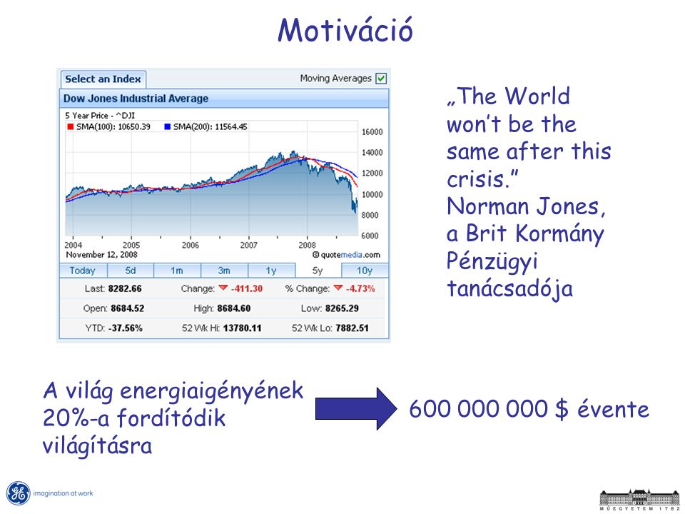 "Motiváció ""The World won't be the same after this crisis. Norman Jones, a Brit Kormány Pénzügyi tanácsadója."