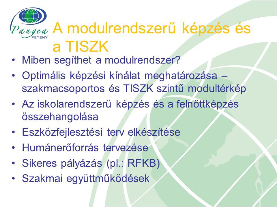 A modulrendszerű képzés és a TISZK