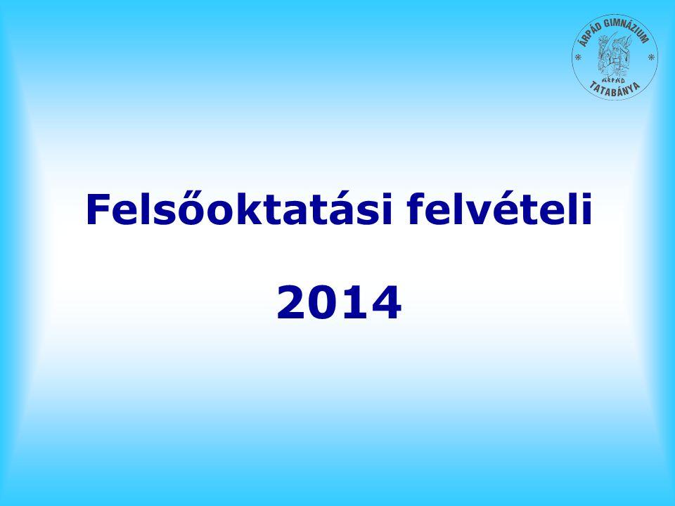 Felsőoktatási felvételi 2014